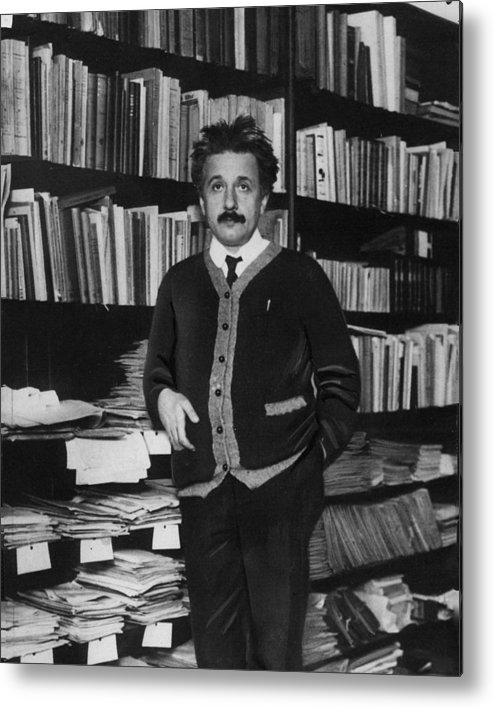 classic Metal Print featuring the photograph Albert Einstein by Retro Images Archive