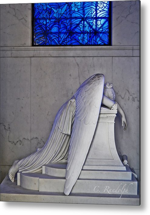 Weeping Angel Metal Print featuring the photograph Blue by Cheri Randolph