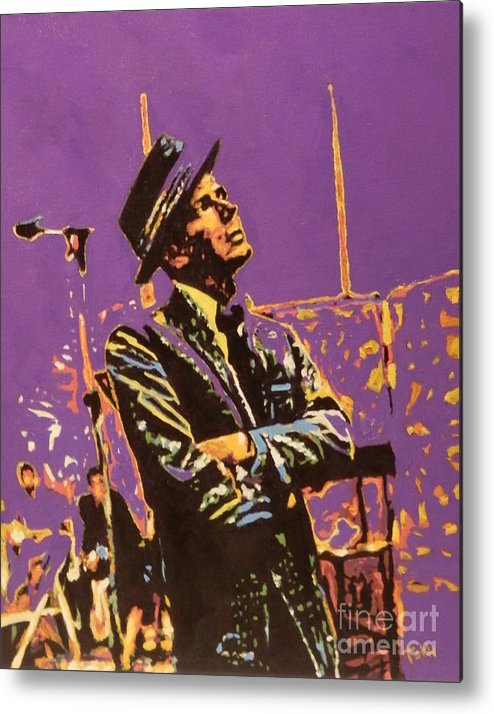 Frank Metal Print featuring the painting Frank by Laura Toth