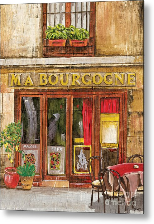 Restaurant Metal Print featuring the painting French Storefront 1 by Debbie DeWitt