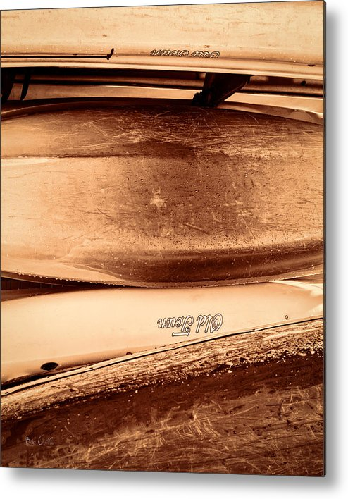 Canoe Metal Print featuring the photograph Old Town Canoes by Bob Orsillo