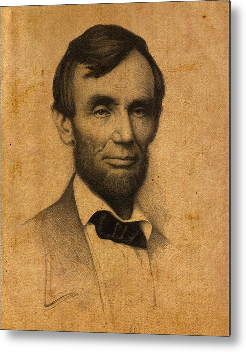 classic Metal Print featuring the photograph President Abraham Lincoln by Retro Images Archive