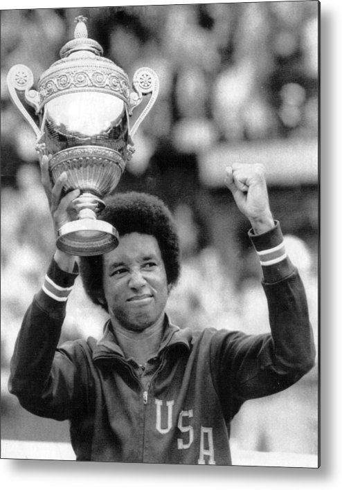 classic Metal Print featuring the photograph Arthur Ashe by Retro Images Archive