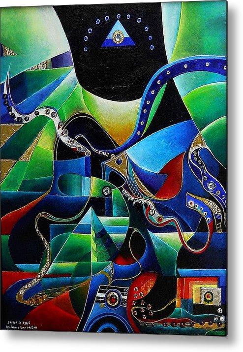 Joseph Metal Print featuring the painting Joseph In Egypt by Wolfgang Schweizer