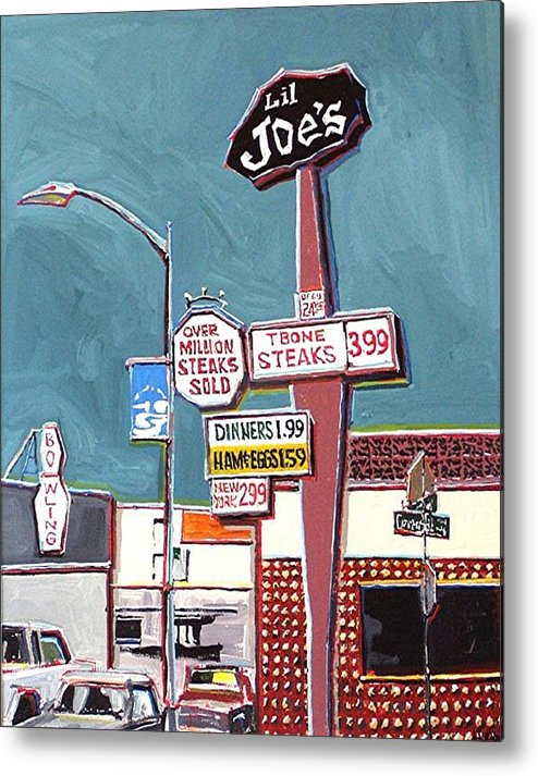 Sacramento Metal Print featuring the painting Li'l Joe's by Paul Guyer