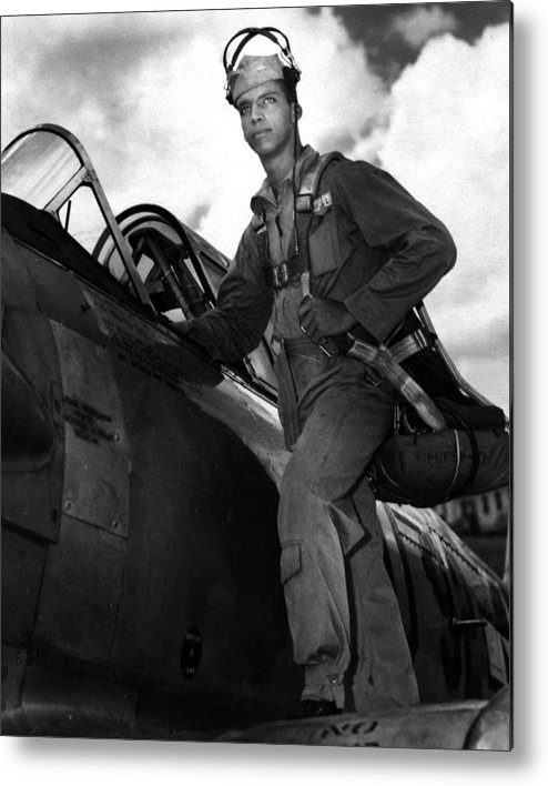 classic Metal Print featuring the photograph Tuskegee Airmen by Retro Images Archive