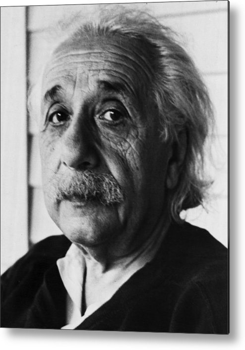 classic Metal Print featuring the photograph Dr. Albert Einstein by Retro Images Archive
