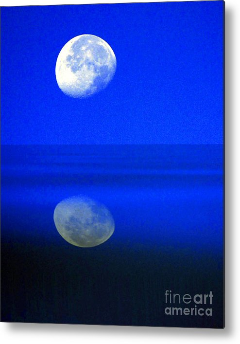 Senic Metal Print featuring the photograph A Blue Moon. by Robert Kleppin