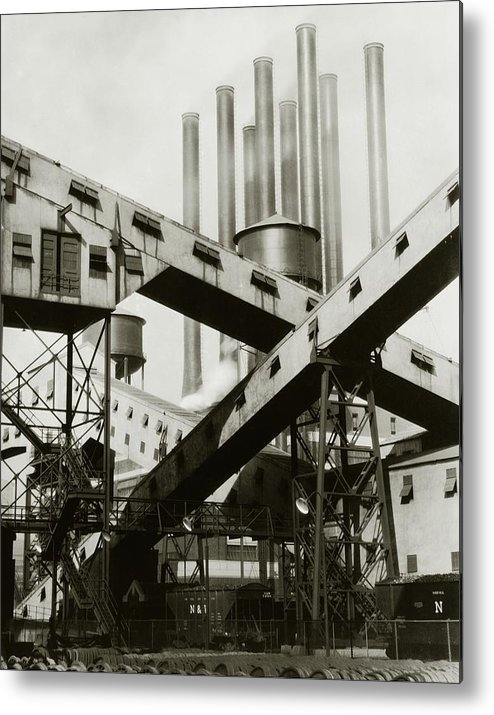 Detroit Metal Print featuring the photograph A Ford Automobile Factory by Charles Sheeler