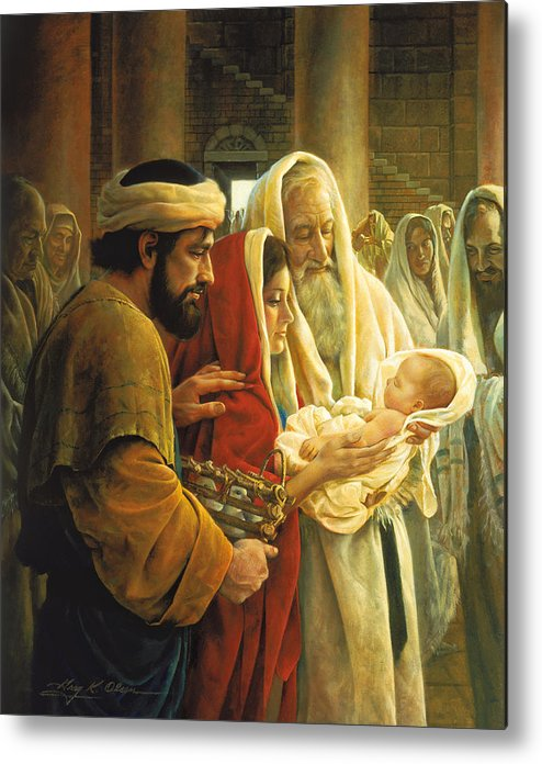 Jesus Metal Print featuring the painting A Light To The Gentiles by Greg Olsen