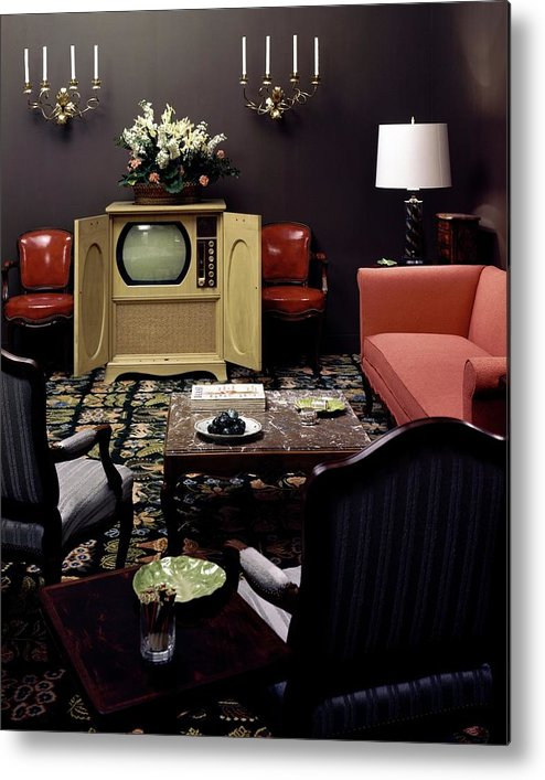 Furniture Metal Print featuring the photograph A Living Room by Haanel Cassidy
