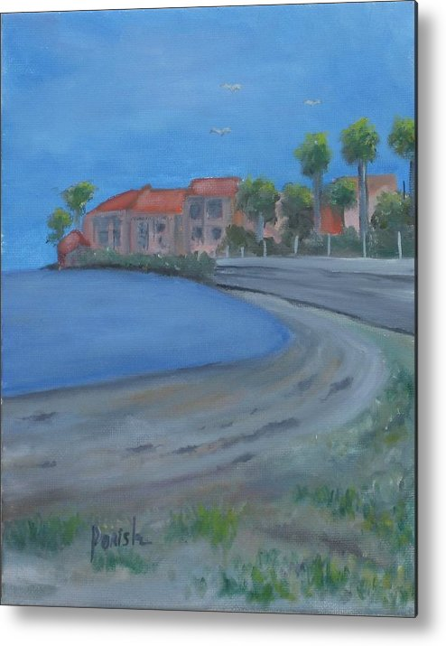 Paintingsbyparish Metal Print featuring the painting A Loews Low Tide by Paintings by Parish