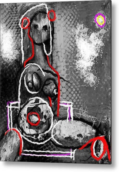 Abstract Metal Print featuring the digital art Abstract Figure Dec 14 2014 by Jim Vance