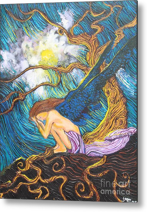 Tree Metal Print featuring the painting Allayah by Stefan Duncan