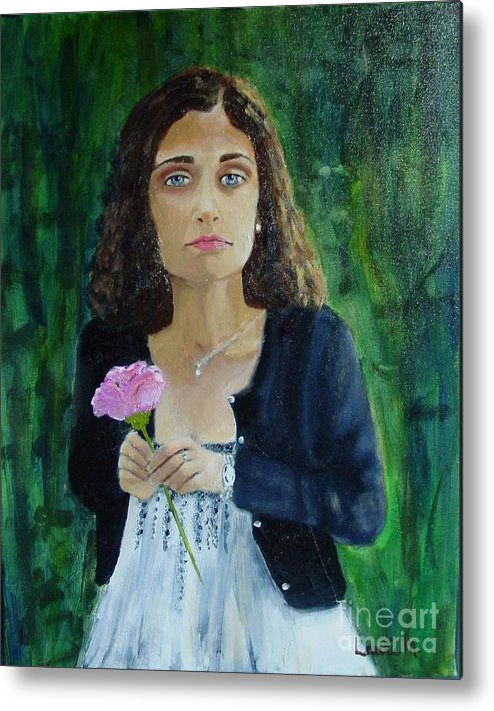 Portrait Metal Print featuring the painting Aly by Laurie Morgan