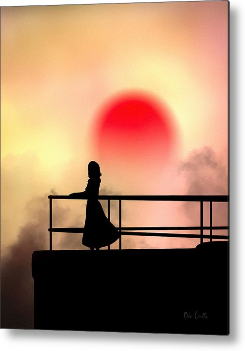 People Metal Print featuring the photograph And The Sun Also Rises by Bob Orsillo