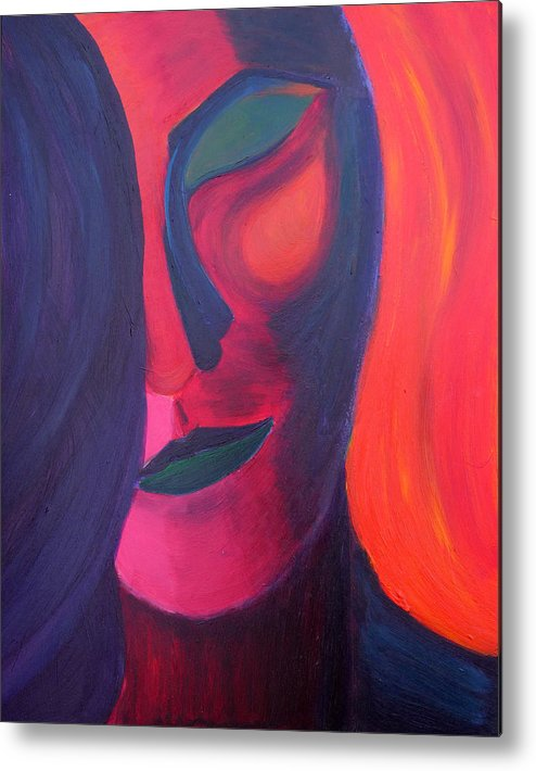Surreal Metal Print featuring the painting Angel by Daina White