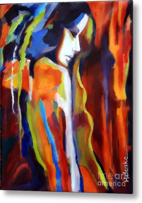 Nude Figures Metal Print featuring the painting Animus by Helena Wierzbicki
