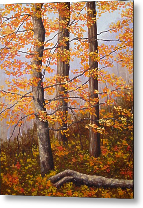 Autumn Metal Print featuring the painting Autumn At Tishomingo State Park by Darla Brock