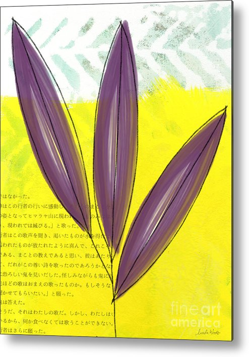 Bamboo Metal Print featuring the painting Bamboo by Linda Woods
