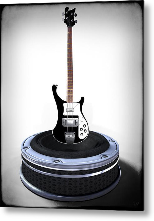 Music Metal Print featuring the digital art Bass Desplay V1 by Frederico Borges