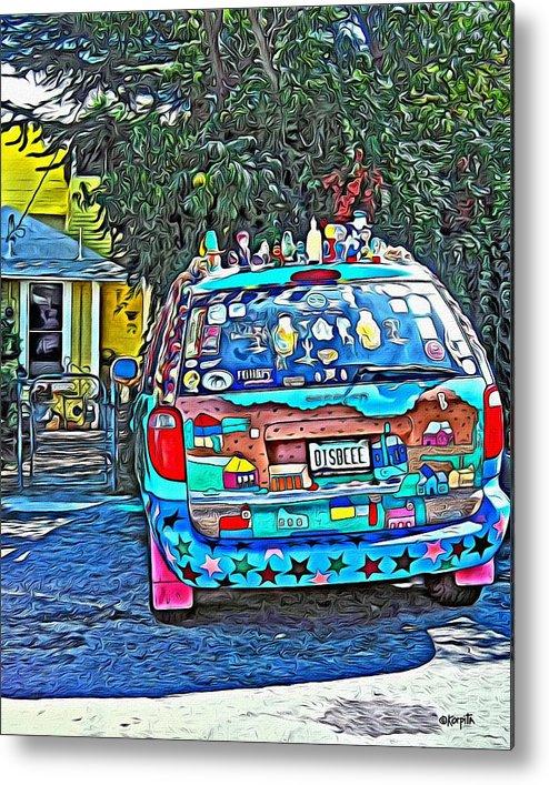 Bisbee Arizona Art Car Metal Print By Rebecca Korpita - Bisbee car show