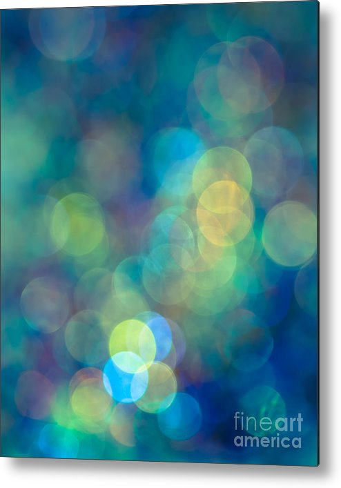 Abstract Metal Print featuring the photograph Blue Of The Night by Jan Bickerton