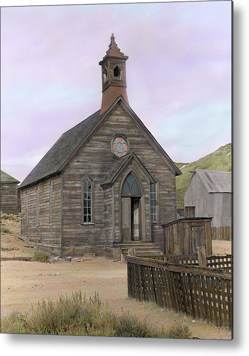 Bodie Metal Print featuring the photograph Bodie Church by Mel Felix