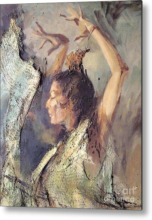 Flamenco Metal Print featuring the painting Carmen Amaya Vi by Zaafra David