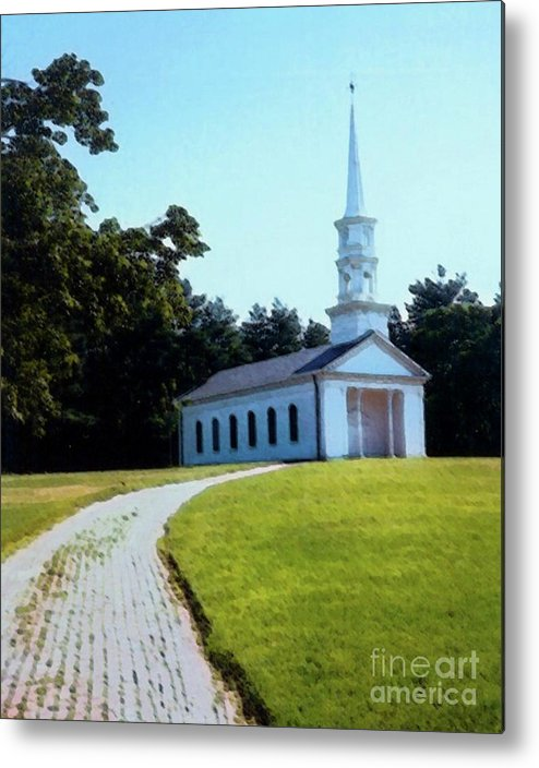 Church Metal Print featuring the photograph Chapel At The Wayside Inn by Desiree Paquette