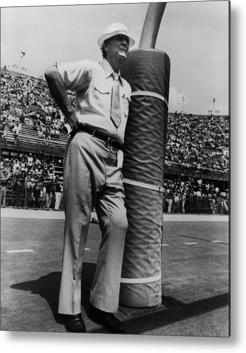 classic Metal Print featuring the photograph Coach Bear Bryant by Retro Images Archive