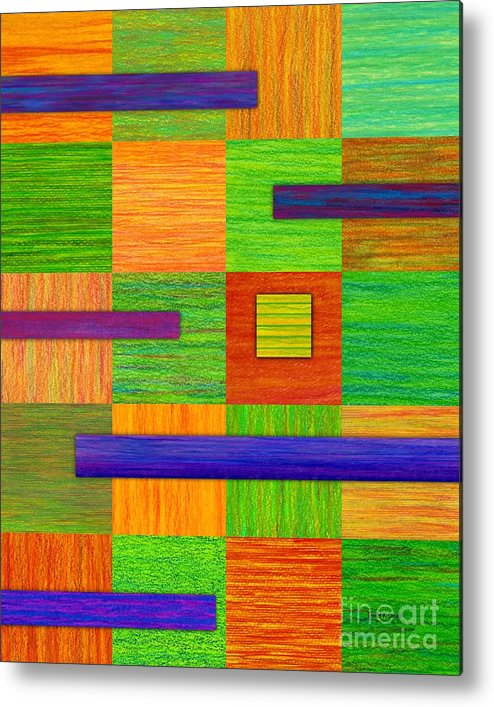 Colored Pencil Metal Print featuring the painting Coexist by David K Small