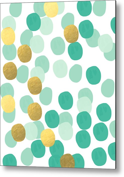 Confetti Metal Print featuring the painting Confetti 2- Abstract Art by Linda Woods