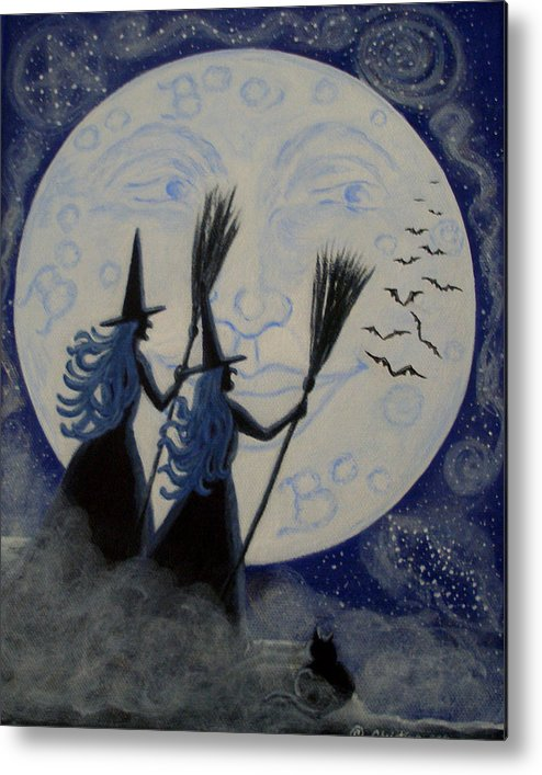 Man Metal Print featuring the painting Conjuring Constellations by Christine Altmann