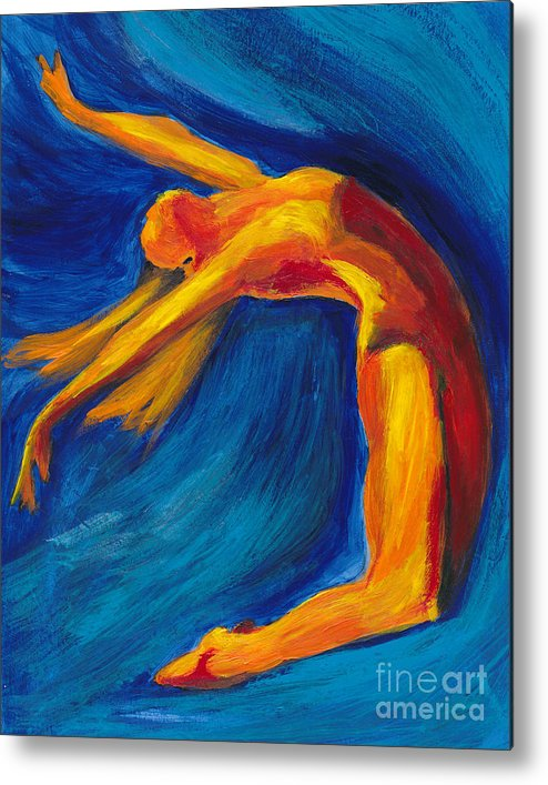 Blue Metal Print featuring the painting Dance by Denise Deiloh