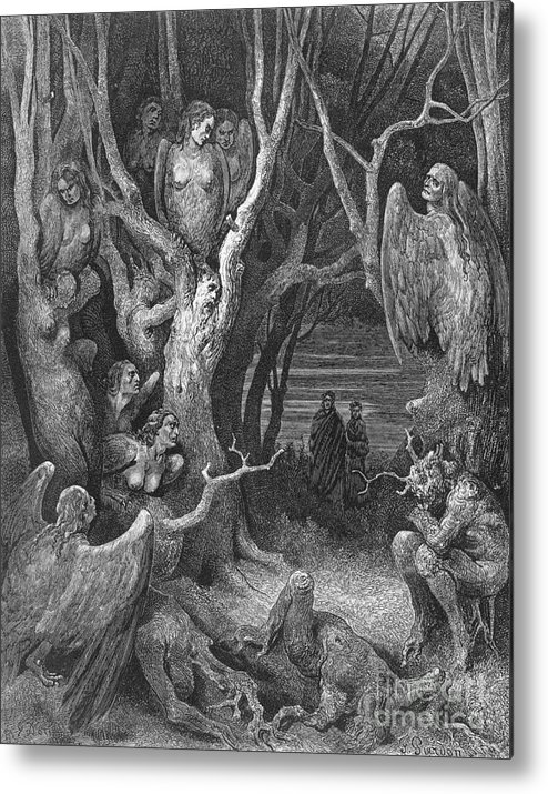 Dante S Inferno Suicides And The Harpies Metal Print