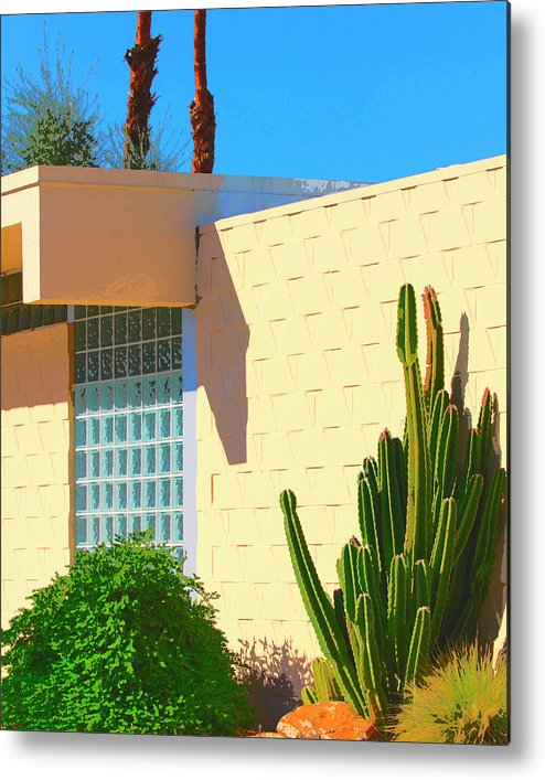 7 Lakes Metal Print featuring the photograph Desert Modern 7 Lakes Palm Springs by William Dey