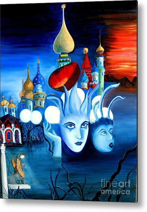 Surrealism Metal Print featuring the painting Dreams by Pilar Martinez-Byrne