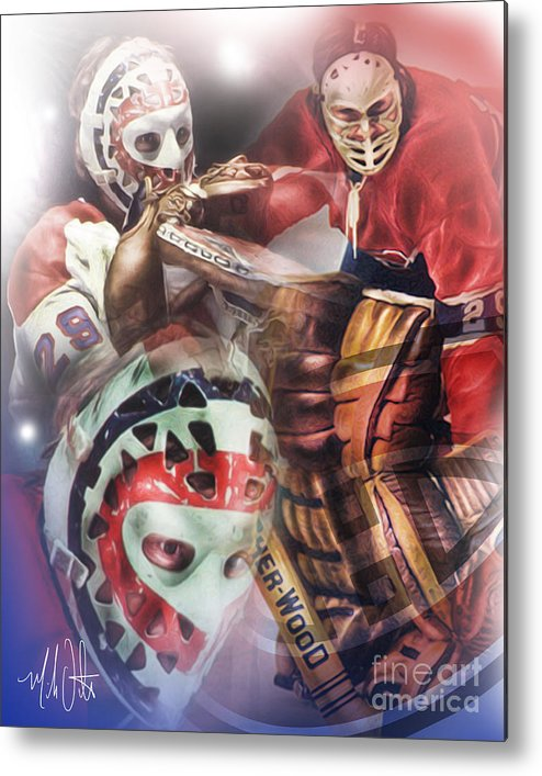 Ken Dryden Metal Print featuring the painting Dryden by Mike Oulton