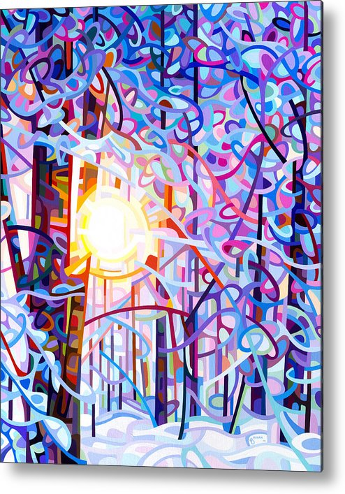 Art Metal Print featuring the painting Early Riser by Mandy Budan