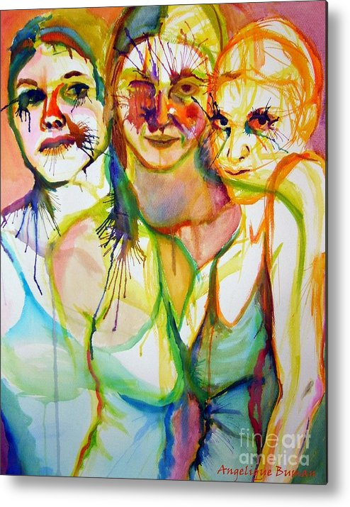 Women Metal Print featuring the painting Empowerment by Angelique Bowman