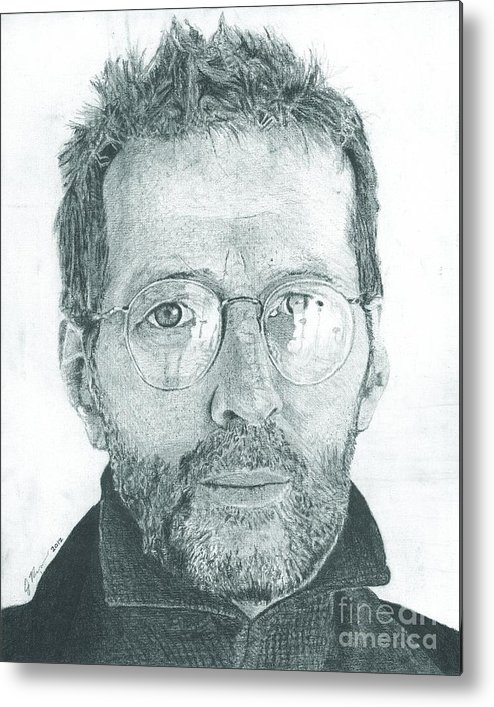 Eric Clapton Legendary Guitar Player Songwriter Slowhand Derek And The Dominoes Cream Metal Print featuring the drawing Eric Clapton by Jeff Ridlen