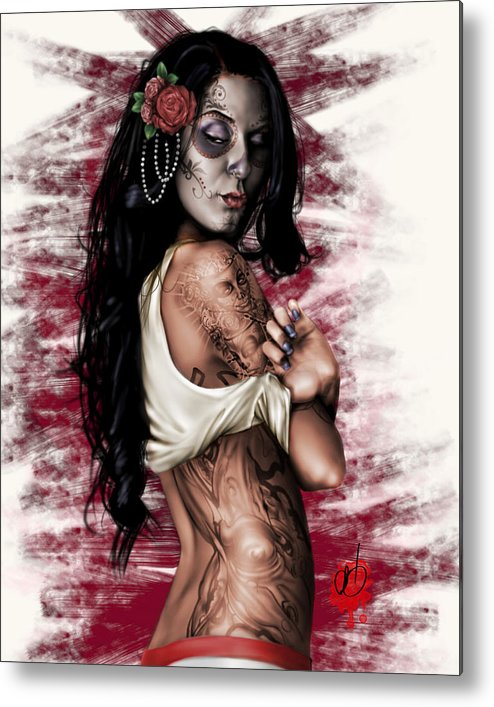 Pete Metal Print featuring the painting Esperanza Viva by Pete Tapang