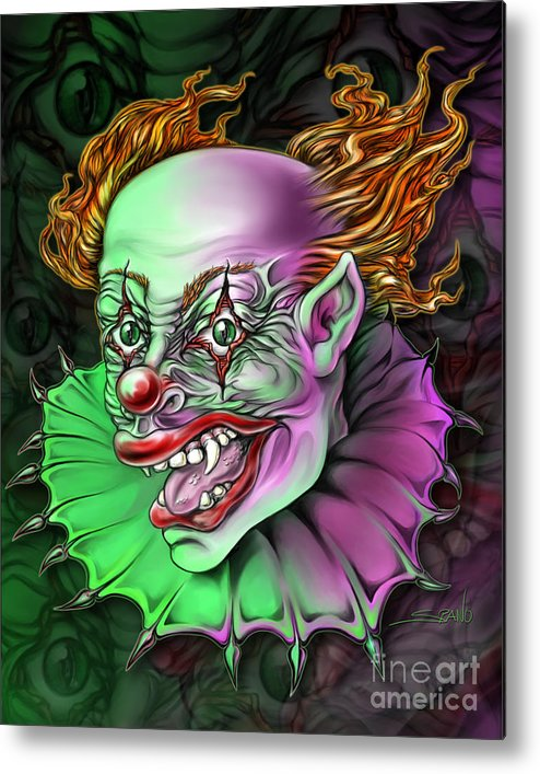 Spano Metal Print featuring the painting Evil Clown By Spano by Michael Spano