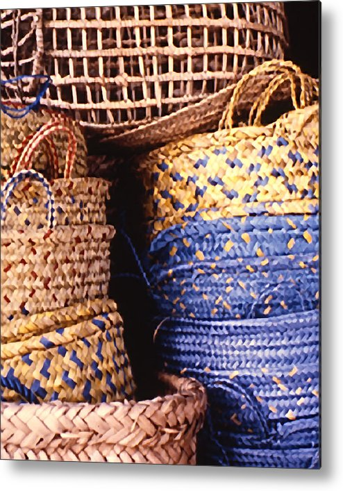 Still Life Metal Print featuring the photograph Exotic Baskets by Michael Fenton