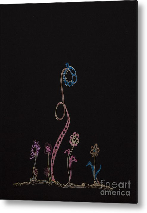 Flowers Metal Print featuring the drawing Families 16 by Christina Naman