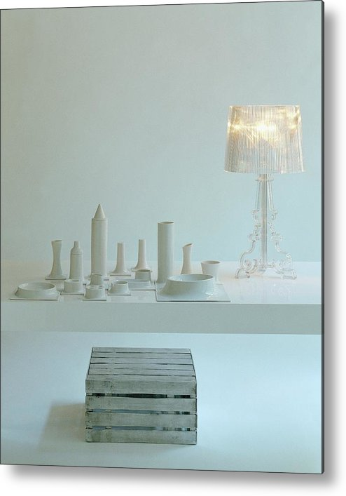 Kitchen Metal Print featuring the photograph Ferruccio Laviani's Bourgie Lamp From Kartell by Romulo Yanes