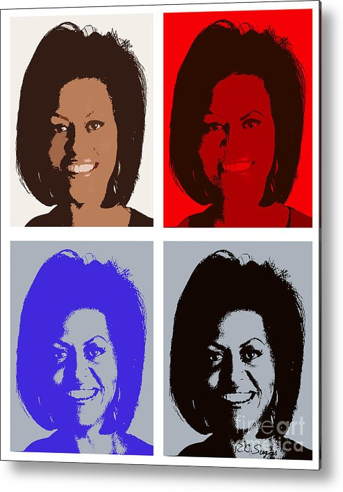 Michelle Obama Metal Print featuring the photograph First Lady by Robert Suggs