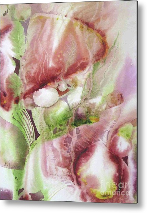 Fluid Metal Print featuring the painting Fluid Abstract by Donna Acheson-Juillet