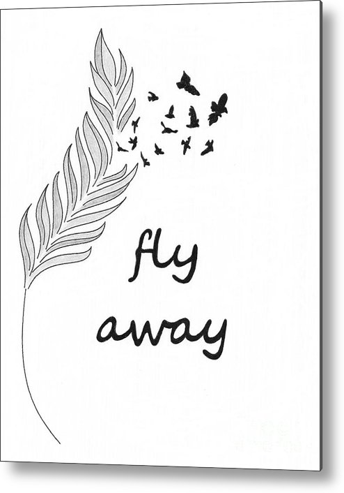 Feather Metal Print featuring the photograph Fly Away by Jennifer Kimberly
